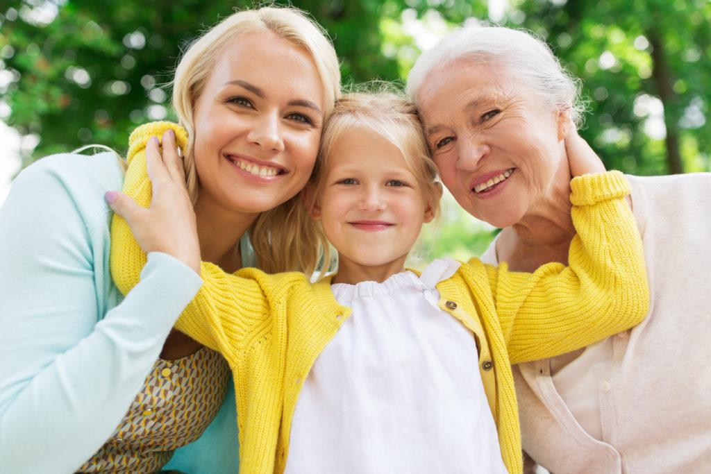 Grandmother, daughter & granddaughter