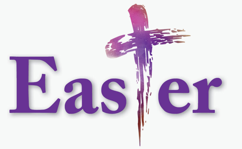 """Easter with a cross for the 'T"""""""